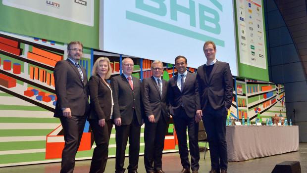 Der neue BHB-Vorstand (v. l.): Dr. Peter Wüst, Susanne Jäger, Dr. Ralf Bartsch, Detlef Riesche, Kai Kächelein und Alexander Kremer.