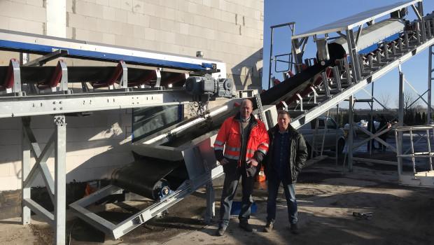 Die beiden Geschäftsführer der MEW, Olaf Dolling (l.) und Detlef Schmidt, im Werk bei Leipzig.