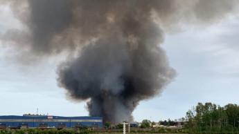 Weltholz Lager in Bremen durch Brand zerstört