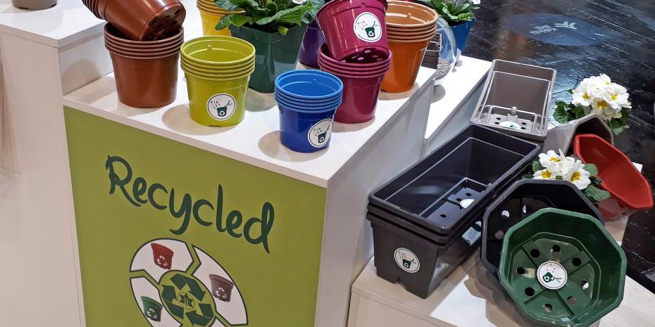Kunststoffrecycling im Gartenbau war auch bislang schon ein Thema auf der IPM. Im Januar 2022 rückt es in den Mittelpunkt der Messe.