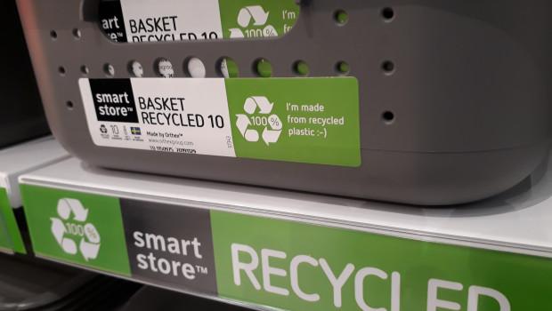 Recycling ist eines der Themen, das der finnische Kunststoffhersteller Orthex prominent auf seinem Ambiente-Stand in den Vordergrund rückt.