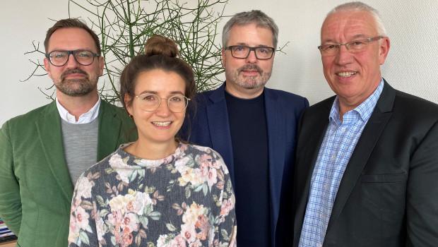 Die Geschäftsführer der vier im grünen Markt engagierten Verbände tauschen sich regelmäßig aus (v. l.): Bertram Fleischer (ZVG), Anna Hackstein (IVG), Peter Wüst (BHB) und Peter Botz (VDG).