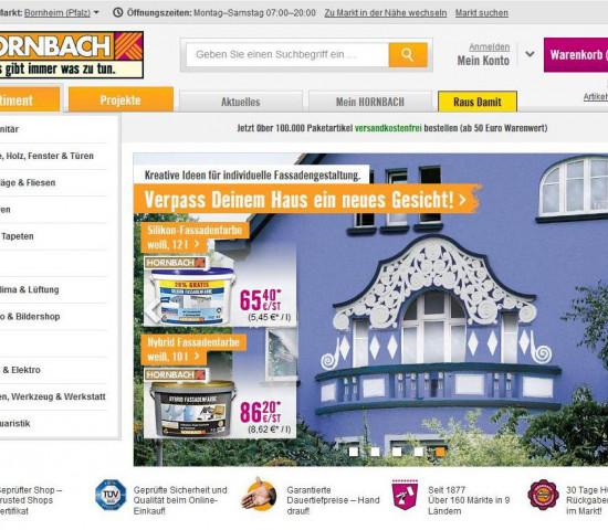Hornbach Online-Shop