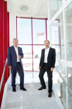 Guido Borowski (l.) übergibt seine Aufgaben als Marketingleiter von Meffert im Juni an Tobias Becker.