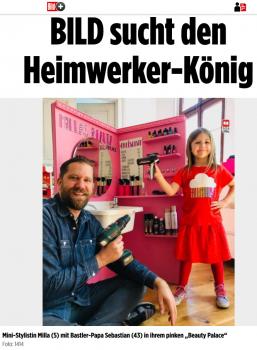 """Augenblicklich läuft bei """"Bild"""" eine DIY-Serie, die unter anderem auch den besten Heimwerker Deutschlands sucht (Screenshot von Bild.de)."""
