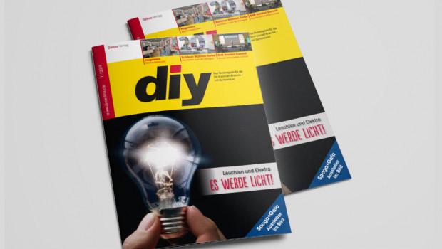 diy 11/2019 hat das Schwerpunktthema Leuchten und Elektro auf der Titelseite.