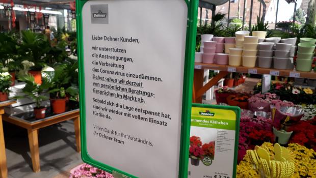 Die Gartencenter durften in den meisten Bundesländern auch während der Corona-bedinten Kontaktbeschränkungen öffnen, hielten dabei aber strenge Hygieneregeln ein.