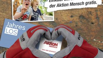 """Ab 100 € Einkauf: ein Jahreslos der """"Aktion Mensch"""" gratis bei Toom"""