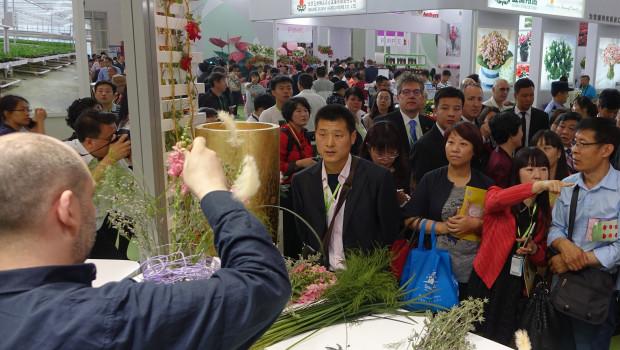 Die Hortiflorexpo IPM in Peking hat ihre Besucherzahlen gegenüber der Veranstaltung vor zwei Jahren um rund 10.000 gesteigert.