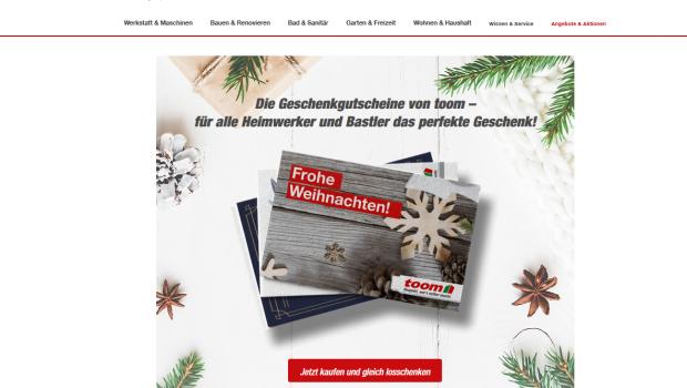 Toom bietet Geschenkgutscheine über seine Website an. Künftig gibt es ein auf Firmen zugeschnittenes Angebot.