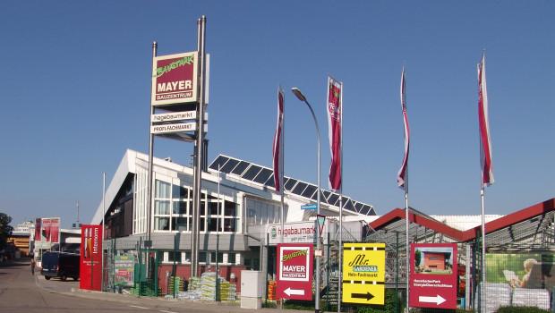 Mayer Ingolstadt beteiligt sich an der Streich Gruppe. Im Bild der Standort von Bauzentrum Mayer in Ingolstadt.