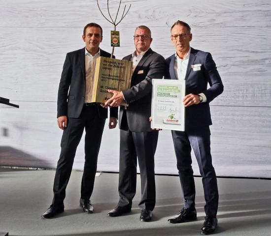 ... den Nachhaltigkeitspreis erhielt  die W. Classen GmbH von Toom und ...