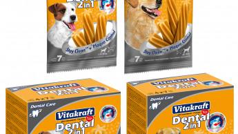 Zahnpflege-Sticks mit 2in1-Wirkstoffkombination für Hunde
