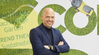 Blogger, Hersteller und Stefan Lohrberg im Projektgarten der Spoga+Gafa