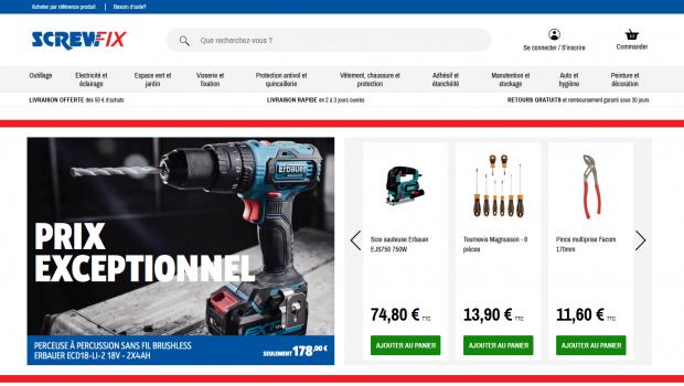 Screwfix hat einen Online-Shop in Frankreich eröffnet.