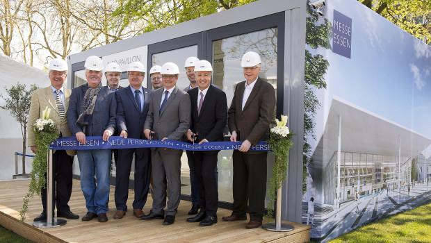 Mit der Eröffnung des Info-Pavillons startete gestern die Modernisierung der Messe Essen in ihre erste Bauphase.