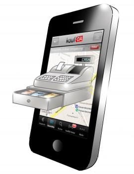 Smartphone mit Kasse
