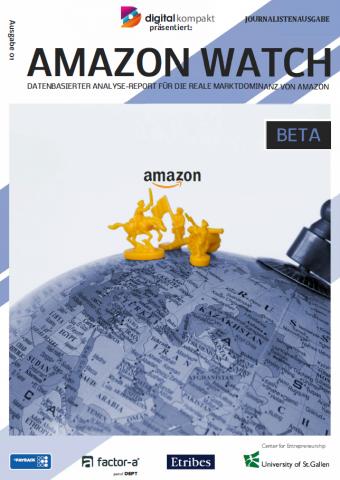 """Der """"Amazon Watch Report"""" wird von digital kompakt, Payback, factor-a, der Universität St. Gallen und Etribes herausgegeben."""