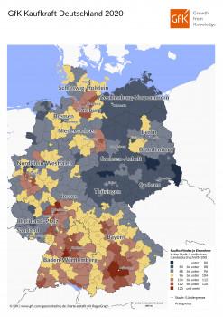 GfK: Die Kaufraft pro Einwohner
