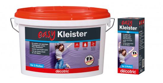 """Der """"easy Kleister"""" eignet sich vor allem zum Anbringen glatter und geprägter Vliestapeten sowie für Vlies-Rauhfaser."""