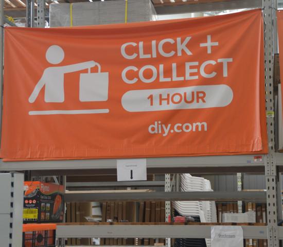 Click & Collect in einer Stunde: Das Angebot hat die Online-Verkäufe beflügelt.