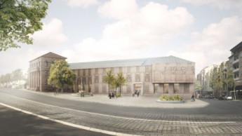 Neubau Tapetenmuseum vor dem Start