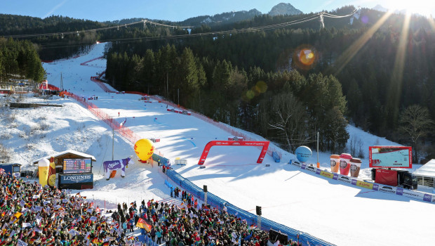 Schöner Wohnen Polarweiss sponsort den Audi FIS Ski Weltcups in Garmisch-Partenkirchen.