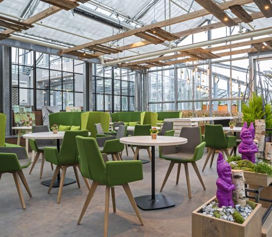 Das Gartenbistro bietet 240 Sitzplätze.