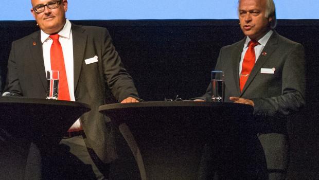 Die Geschäftsführung des Baustoffrings: Johannes Häringslack und Günther Muck, der auf der Cheftagung für ein weiteres Jahr als interner Geschäftsführer bestätigt wurde.