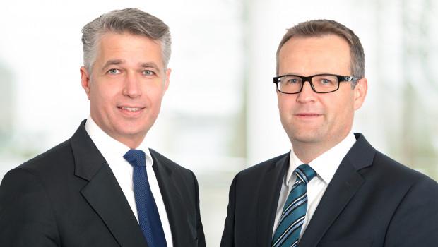 Die Geschäftsführung der STI Group: Dr. Tom Giessler (l.), Chief Operations Officer der kaufmännischen Bereiche sowie der Werke, sowie Aleksandar Stojanovic, Geschäftsführer für Vertrieb, Marketing, Personal und Recht.
