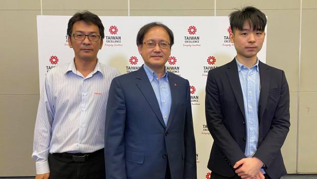Sales Manager Barry Tsai von Shen Kai Precision (von links), Simon Wang, Executive Vice President von Taitra und International Sales Representative Kevin Wang von Tronco sprachen bei der Onlineveranstaltung.