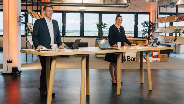 Alexander Birken undPetra Scharner-Wolff stellten bei der Bilanzpressekonferenz die Ergebnisse des abgelaufenen Geschäftsjahres 2020/21 vor.