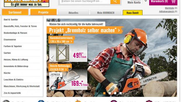Sieger im Test der Baumarkt-Online-Shops von Selbermachen ist hornbach.de.