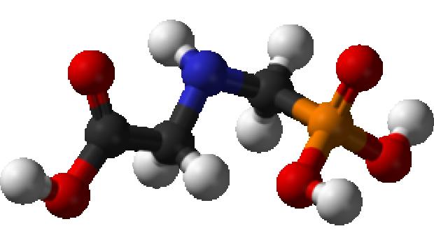 3-D-Modell des Glyphosat-Moleküls: Auch Bauhaus will Produkte mit diesem Unkrautmittel nicht mehr verkaufen.