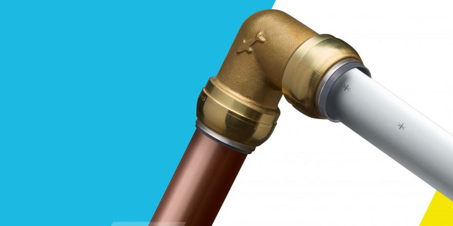 Die Verbindungsstücke sind aus korrosionsbeständigem Messing gefertigt.