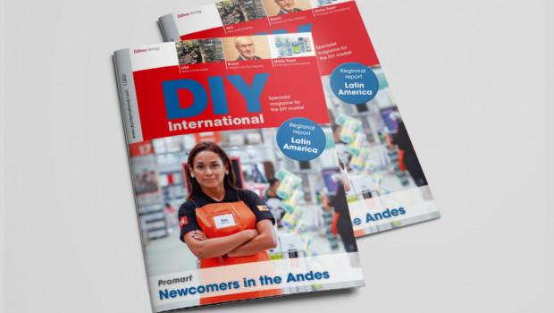 Verónica Valdez, Chefin der peruanischen Promart-Kette, kommt in DIY International 1/2021 zu Wort - und findet sich auch auf der Titelseite wieder.