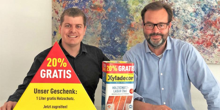 AkzoNobel, Silvio Bucher (links) und Dierk Schloßhauer