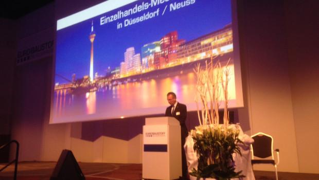 Eurobaustoff-Geschäftsführer Hartmut Möller konnte auf dem Einzelhandelstreffen der Kooperation rund 200 Teilnehmer begrüßen.