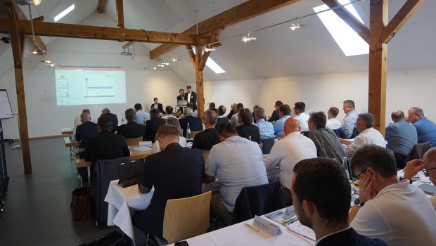 Blick in die jüngste Fachgruppentagung des Eurobaustoff-Fachhandels für Bauelemente. [Bild: Eurobaustoff]