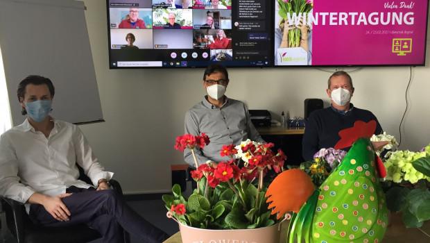 Die Wintertagung der NBB Egesa fand erstmals in digitaler Form statt.Von links: Fabian A. Farkas, Thomas Weng und Dirk Timmermeister.