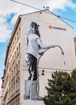 Gärtner ist überall - diese Botschaft will Gardena den Menschen in Wien vermitteln.
