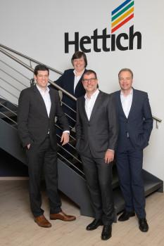 Die Geschäftsführung der Hettich Marketing- und Vertriebs GmbH & Co. KG (v. l.): Catherine Courcel, Bernd Große-Dunker, Uwe Kreidel und Philipp Rode.