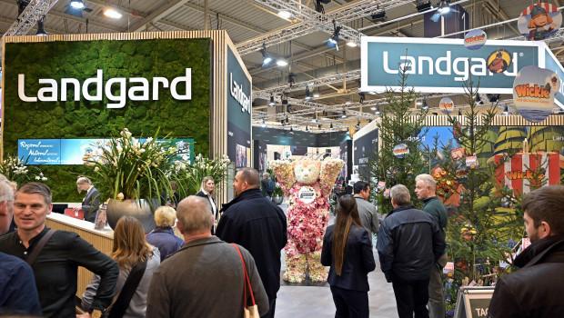 Die Landgard - das Bild zeigt den großen Messestand auf der IPM 2020 - hat das vergangene Jahr in der Sparte Blumen und Pflanzen mit einem deutlichen Umsatzplus abgeschlossen.