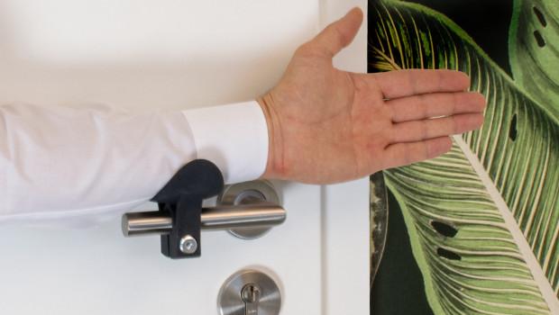Der hygienische Klinkenaufsatz EH 2240 ist gleich in zwei Kategorien ausgezeichnet worden.