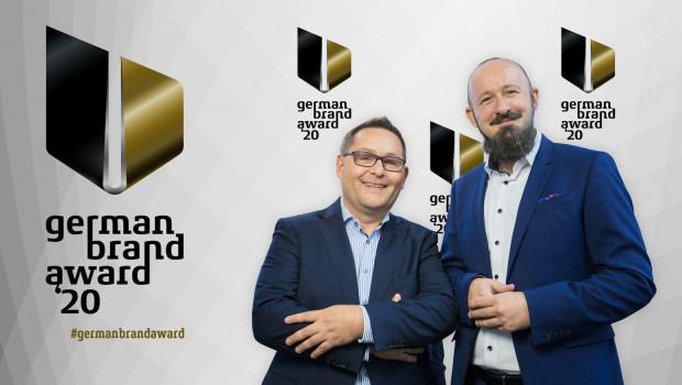 Severing-Geschäftsführer Christian Strebl (l.) und Marketingleiter Sascha Steinberg haben den German Brand Award für ihr Unternehmen entgegengenommen.