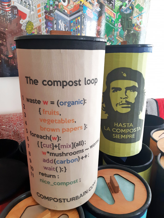 Compost Urbain, Kompostsilo