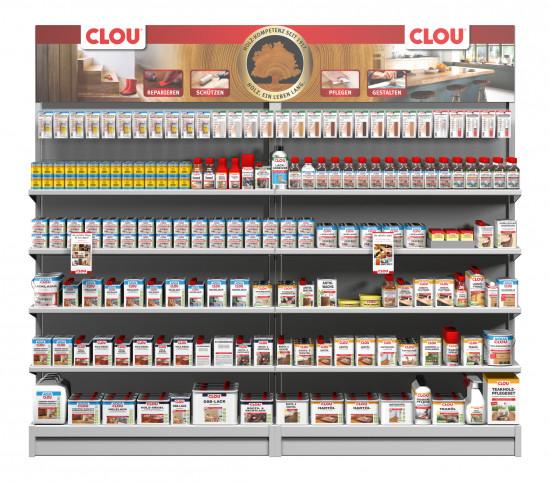 Vielfalt für den Profi: Reparieren, Schützen, Pflegen, Gestalten – das Clou-Innensortiment hält für jeden Anwendungsfall das passende Produkt bereit.
