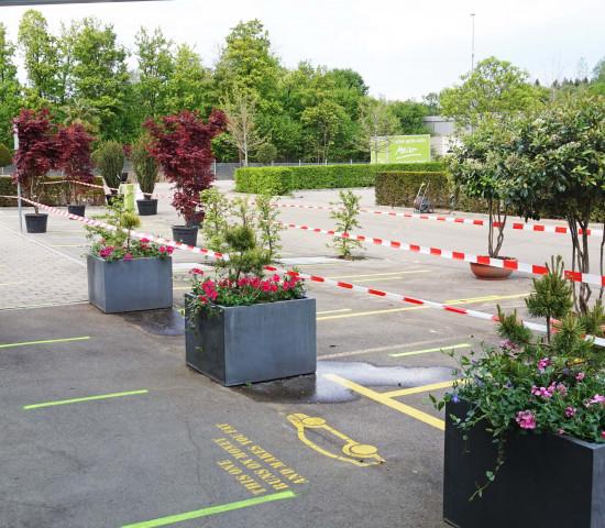 Gartencenter Meier, Wartezone Parkplatz