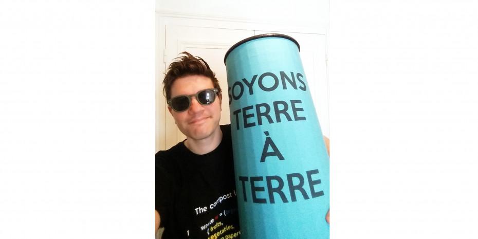 Seien wir bodenständig: Malcom Hammer aus Paris ist der Gründer von Compost Urbain und Gewinner des Gardena garden award 2020.