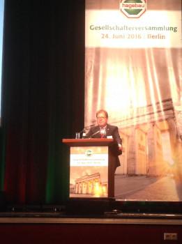 Hartmut Richter hielt heute in Berlin seine letzte Rede als Aufsichtsratsvorsitzender in einer Hagebau-Gesellschafterversammlung.